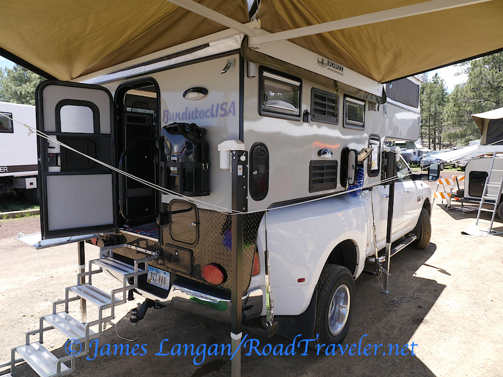 Dually trucks remain a great choice for heavy slide-in campers, even a popup, particularly if challenging and/or narrow dirt roads are not part of the plan. BundutecUSA is a relatively new camper company based in Iowa, though the founder has decades in the business.